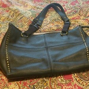 The Sak black leather bag in excellent, gently use